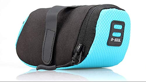 LIANYG Rear Rack Bag Waterproof Bicycle Saddle Bag Mountain Road Bike Tail Bag Cycling Seat Bag For Men,Bicycle Accessories Bags Saddle Bag (Color : BLUE 2)
