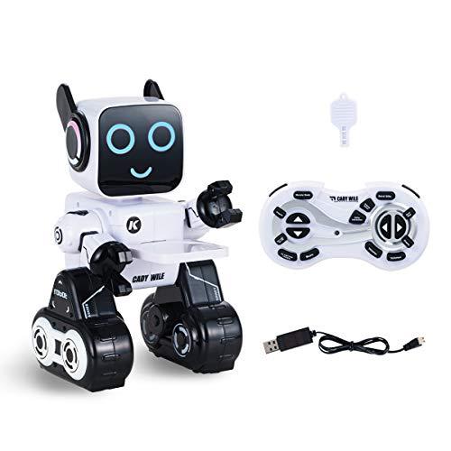 Locisne Ferngesteuerter RC-Roboter für Kinder wiederauflaadbarer Sound Control-Roboter mit Touch-Steuerung Walking...