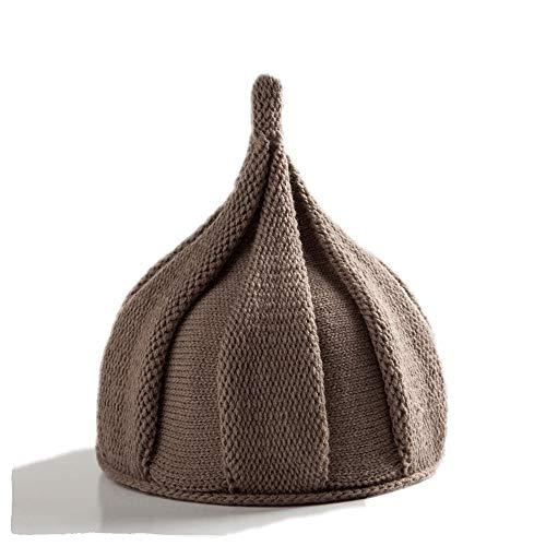 Milkycat Soft Knitted Baby Hat,Stretchy Kids Hat,Warm Beanie(Festival Atmosphere Clothing/Gift,Onion-Domed,Elf Felt Hat) (Khaki)