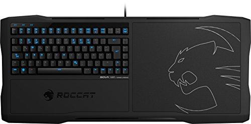 ROCCAT SOVA MK Mechanisches Gaming Lapboard, Tastatur und Mauspad, DE Layout - Mechanische Tasten, Brown Switch, 4 m USB-Kabel , Schwarz