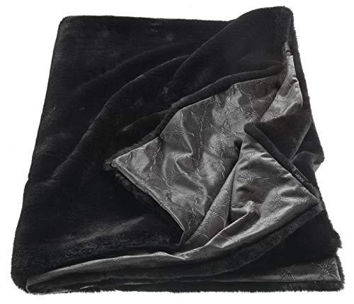 Joop! Smooth schwarz Plaid Farbe schwarz Größe 130x170cm