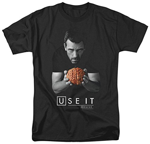 NBC Use It - House M.D. Adult T-Shirt, Large Black