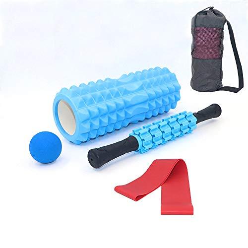 Juego de rodillos de espuma Verdelife, 5 en 1, 33 mm, bola de masaje muscular, para yoga, fitness, terapia de relajación profunda, gimnasio