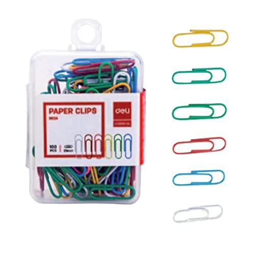 20 cajas de 100 grapas de metal, 100 clips, 100 clips, 100 clips, 100 clips de papel, disponible en varios colores