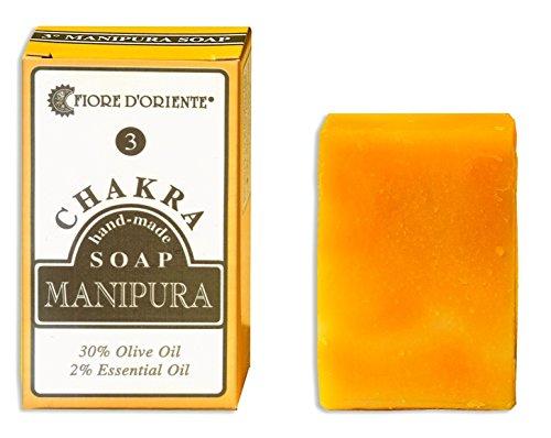 Fiore d 'oriente 3ème Chakra Manipura fait à la main Savon Bar 70 g, jaune