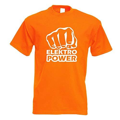 Elektro Power Faust Schlag T-Shirt Motiv Bedruckt Funshirt Design Print