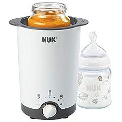 NUK Thermo 3 en 1 chauffe-bouteilles, pour le chauffage, le dégel et le maintien au chaud simples, sûrs et sûrs, pour verres et bouteilles