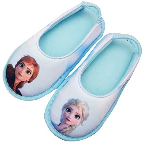 [ディズニー] アナと雪の女王2 Frozen 2 エルサ アナ 女の子 子供用 室内履き キッズ スリッパ ルームシューズ (17.0 cm, エルサ&アナ) [並行輸入品]