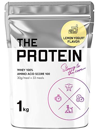 武内製薬 THE PROTEIN 1kg ホエイ プロテイン 甘すぎない 筋トレ (すっきりレモンヨーグルト風味)