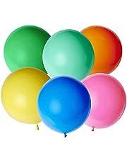 Bluelves XXL ballong färgglada, jätteballonger, XXL ballonger färgglada 90 cm, stora ballonger färgglada, latex jättestor ballong för bröllop födelsedag dop baby party dekoration barn födelsedag karnevaler