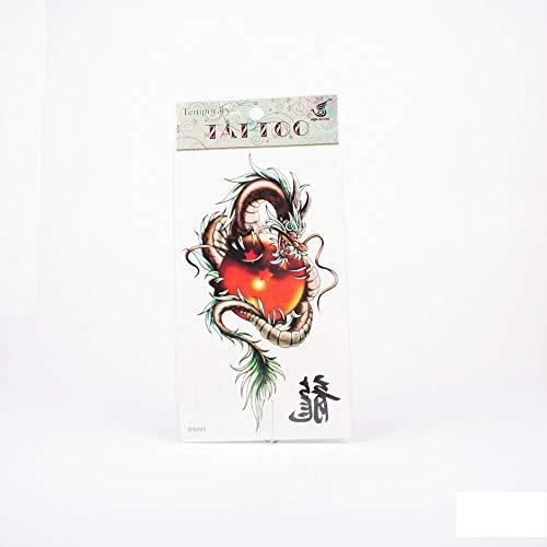 Tattoos chinesischer Drache in Braun mit Dragonball und chinesischem Zeichen Drache