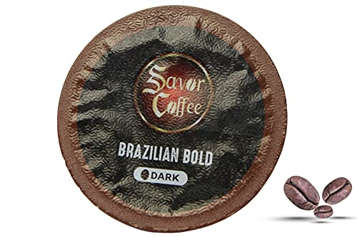 Savor Coffee Brazilian Bold 12 Pods   Premium Exotic Distinctive Roasted Coffees from Around the World   Rich-Never Bitter   Compatible K-Cup for Keurig