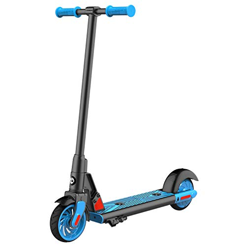 "GOTRAX GKS Electric Scooter, Kick-Start Boost and Gravity Sensor Kids Electric Scooter, 6"" Wheels UL Certificated E Scooter for Kids Age of 6-12 (Blue)"
