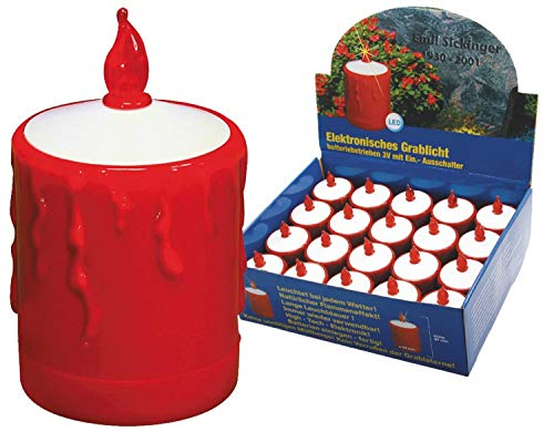 Heitronic Lampe 36349 sol, Integrated, 9,7 cm, plastique, rouge
