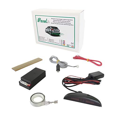 Proxel EPS-DUAL 3.0 elektromagnetische Parksensoren mit kabellosem Display, hinten ohne Bohren der Stoßstange, universelles Set und original Version 2020