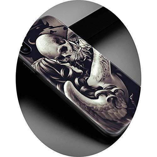 TPU Soft Case for iPhone 12 Mini 11 Pro MAX 7 8 XR X XS MAX 6 6S 7 8 Plus SE 2020 Shell Capa Grim Reaper Skull Phone Case