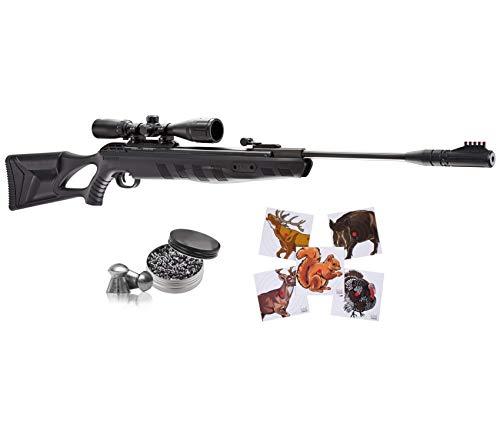 Umarex Octane Elite Combo (3-9x40 w/Rings) .22 Cal Gas Piston Break Barrel Air Rifle with 100ct Paper Targets and Wearable4U 250 Pellets Bundle