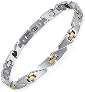 Medical energy bracelet with magnet stone and germanium to get rid of electrical charges in the body and balance for women
