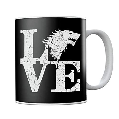 Juego de Tronos Stark Love - Taza de café de cerámica, regalo de cumpleaños