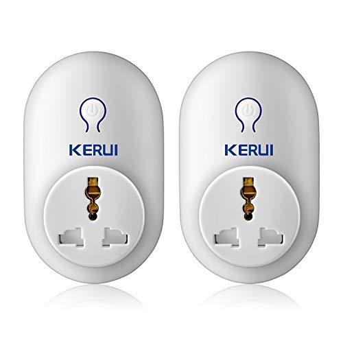 KERUI S71 Enchufe Inteligente Inalámbrico por Mando a Distancia, Compatible con Sistema Alarma para Casa KERUI (Control App), Enchufe/Adaptador de Automatización del Hogar para Interruptor de Alarma