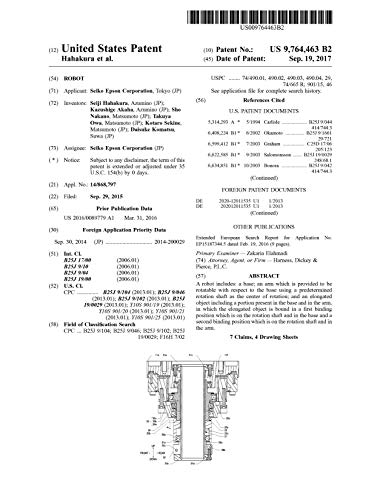 Robot: United States Patent9764463 (English Edition)