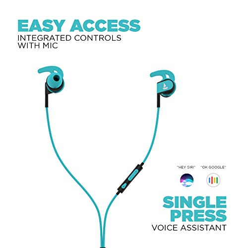 boAt Bassheads 242 in Ear Wired Earphones with Mic(Blue)