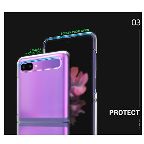 for Samsung Galaxy Z Flip Case Cover Clear [Slim Fit] Protective Polycarbonate Hard Shell PC Transparent Cover