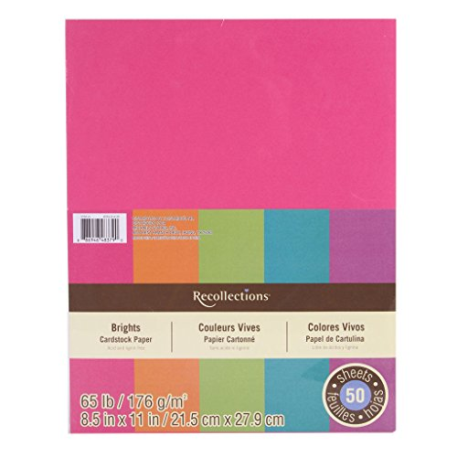 Recollections Cardstock Paper, Brights 8.5 X 11 (Value 2-pack)