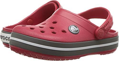 Crocs Crocband Clog K Zoccoli, Bambini, Rosso(Pepper/Graphite), 33/34 EU