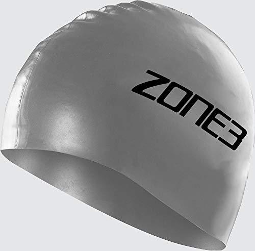 ZONE3 SA18SCAP116/OS Bonnet de Natation Mixte, Argenté, Taille Unique