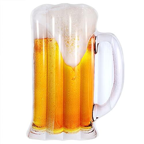 Agua Inflable Cama Flotante Juguete Cerveza Taza de Cerveza Forma de Agua Cama Flotante Silla de Ocio Silla de Agua Silla de sofá Adulto Flotador
