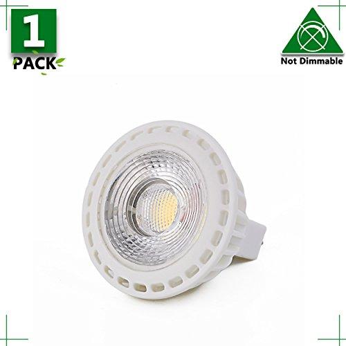 MR16 GU5.3 LED Bulb, 1-Pack, 3 Watt, Non Dimmable 300 Lumen,Daylight White 5000K, 38° Beam Angle, 12 Volt AC,25W Equivalent,Recessed Track Landscape Lighting, Spotlight, LED Light