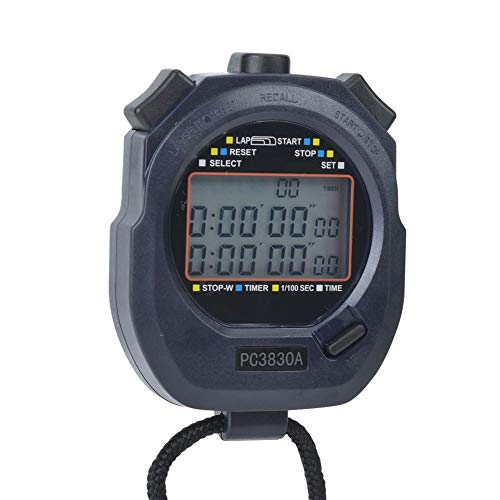 T best Cronómetro Digital Deportivo, cronómetro Deportivo, cronómetro electrónico de Atletismo PC3830A ABS(0,01)