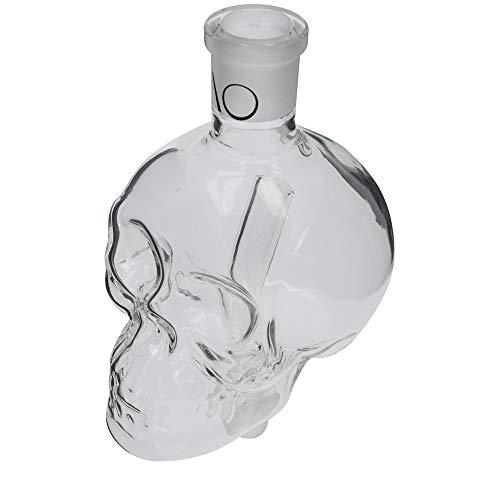 AO® Shisha 18/8 Kopf-Schliff Molassefänger Skull Big   Wahrer Blickfang auch in Kombination mit Wasser und Lebensmittelfarbe! (Clear)