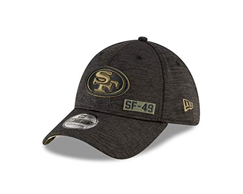 New Era - NFL San Francisco 49ers 2020 Salute to Service 39Thirty Stretch Cap - Grau Größe M-L