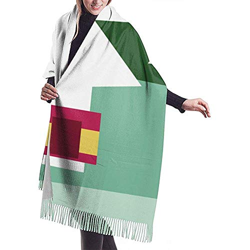 Cathycathy Kerstmis quilt panel sjaal wrap winter warme sjaal cape grote zachte sjaal wrap