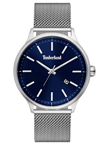 Timberland Reloj Analógico para Hombre de Cuarzo con Correa en Acero Inoxidable TBL15638JS.03MM