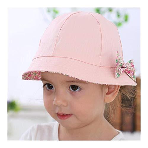 Zonnehoed uit de collectie voorjaar zomer baby met strik van katoen voor pasgeborenen kinderen meisjes muts Double Sided kan accessoires dragen