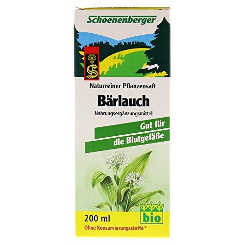 Schoenenberger Bärlauch-Pflanzensaft, 1er Pack (1 x 200 ml) - Bio