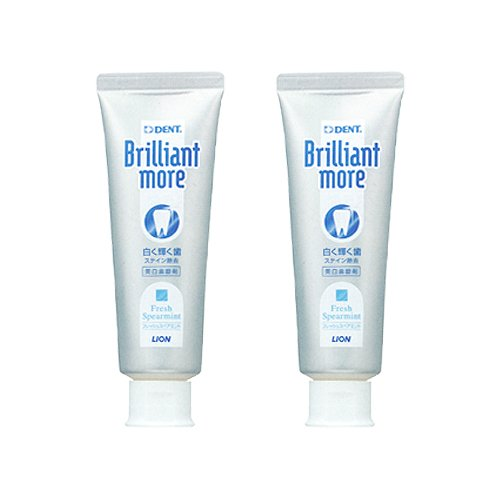 Lion Brilliant More Stain Whitening Fluoride Toothpaste - Removes Tobacco &...