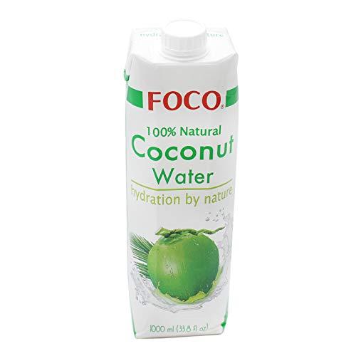 12er Pack (12x1L) Foco 100% Natural Kokoswasser (Papa Vo ®)