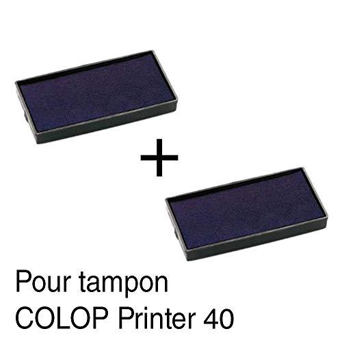 Tampone di inchiostro per timbro COLOP Printer 40, 59x 23mm, 2 pezzi Nero