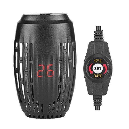 DAUERHAFT Calentador de Acuario Sumergible Mini Varilla calefactora antiexplosión Tortuga Tanque de Peces de Agua Baja Termostato automático EU 220V para Agua Salada Marina y Agua Dulce(100w)
