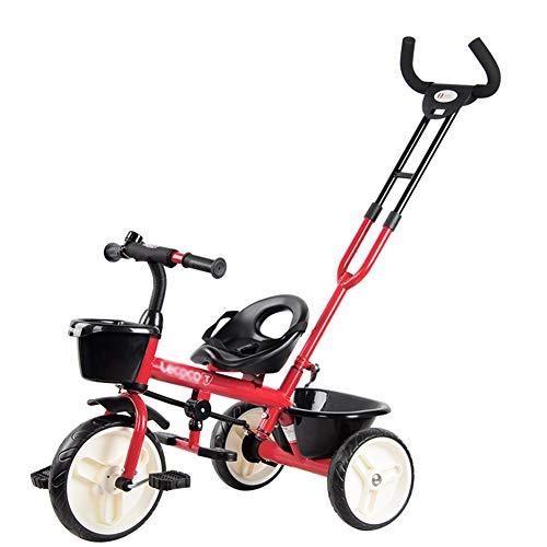 Bébé GUO@ Tricycle pour Enfants 1-3-6 Ans Trolley Trolley Titanium Porte Poussette