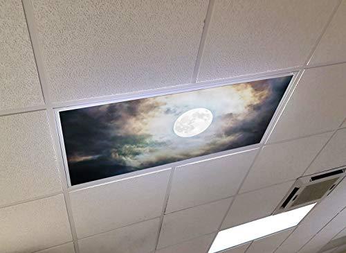 Midnight - 2ft x 4ft Drop Ceiling Fluorescent Decorative Ceiling Light Skylight Film Filter Cover