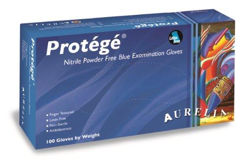 SUPERMAX 93999p Aurelia Protegé Nitril Handschuhe, puderfrei, X-Large, Blau (1000Stück)