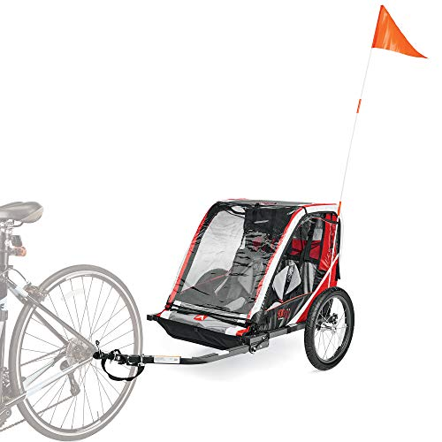 Allen Sports Deluxe Steel 2-Child Bicycle Trailer - Red, Model T2-R