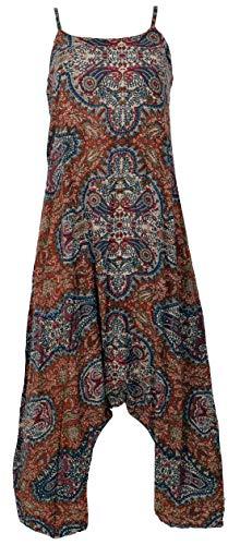 Guru-Shop Boho Jumpsuit, Sommer Pluderhose Overall, Aladin Hosenkleid, Damen, Rostbraun, Synthetisch, Size:40, Lange Hosen Alternative Bekleidung