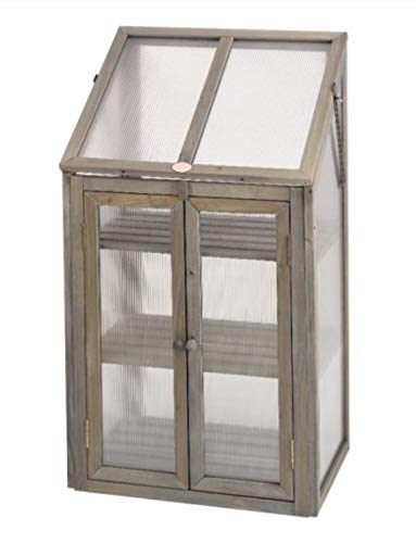 Garden Mile 3 Tier Mini Greenhouse, Wooden Framed Polycarbonate Greenhouse, for Germination of Seeds, Vegetables, Flowers or Cuttings in This Mini Greenhouse