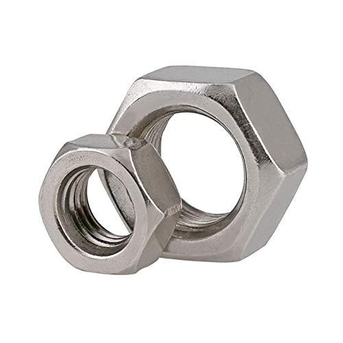 1-20pcs DIN934 304 Tuerca hexagonal de acero inoxidable Hilo de tono fino tuerca hexagonal M6 M8 M10 M12 M14 M16 M18 M20 M22 M24 YUAN CHUANG (Size : M8 x 1.0(20pieces))